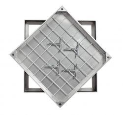 Ultra Thin! TSL-Pro-Line 600 X 600 X 21mm Triple Sealed & Locking Aluminium Recessed Manhole Cover