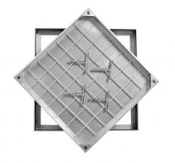 Ultra Thin! TSL-Pro-Line 750 X 600 X 21mm Triple Sealed & Locking Aluminium Recessed Manhole Cover