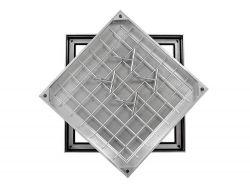 Ultra Thin! TSL-Pro-Line 750 X 750 X 21mm Triple Sealed & Locking Aluminium Recessed Manhole Cover