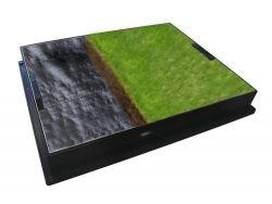600 x 450 x 80mm GrassTop Recessed Manhole Cover