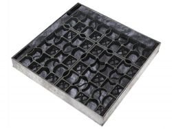 600 x 600 x 80mm EcoGrid Grass & Gravel Recessed Manhole Cover - Fully Galv Option