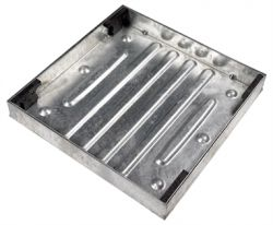Fully Galvanised 600 x 600 x 80mm Recessed Manhole Cover for Patios, Driveways, Block Paving & Flagging