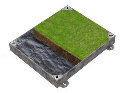 900 x 600 x 100mm GrassTop Recessed Manhole Cover