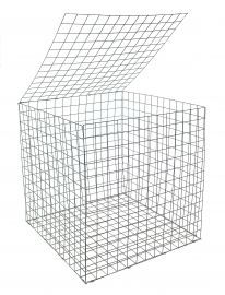 Gabion Basket 0.55 x 0.55 x 0.55m Galfan Coated Welded Mesh - Pack of 50