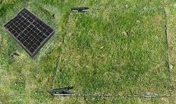 900 x 600 x 100mm EcoGrid Grass & Gravel Recessed Manhole Cover