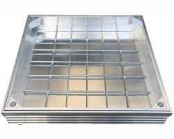 DS-Line 600 x 600 x 48mm Double Sealed Aluminium Recessed Manhole Cover