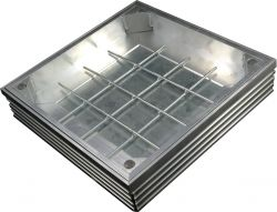 TSL-Pro-Line 500 x 500 x 61mm [80mm Depth] Triple Sealed & Locking Aluminium Recessed Manhole Cover
