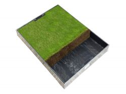 600 x 450 x 80mm GrassTop Recessed Manhole Cover - Fully Galv Option