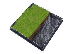 600 x 600 x 80mm GrassTop Recessed Manhole Cover