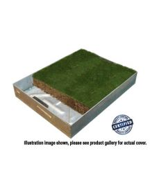 600 x 600 x 80mm GrassTop Recessed Manhole Cover - Fully Galv Option