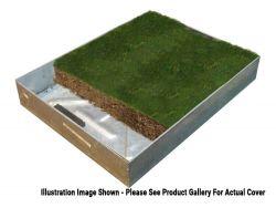 600 x 600 x 100mm GrassTop Recessed Manhole Cover