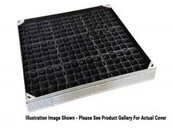 750 x 750 x 100mm EcoGrid Grass & Gravel Recessed Manhole Cover