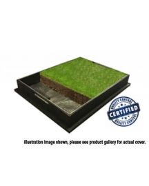 220 to 300 x 80mm GrassTop Square-to-Round Recessed Manhole Cover