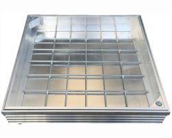 DS-Line 1000 x 1000 x 48mm Double Sealed Aluminium Recessed Manhole Cover
