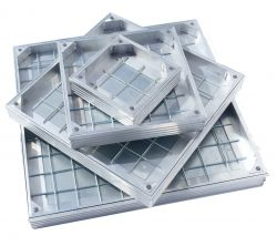 DS-Line Double Sealed Aluminium Recessed Manhole Cover, 60mm Depth - ALL SIZES, FREE EXPRESS DELIVERY