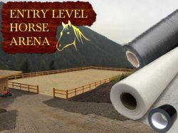 Entry Level 30 X 40m Horse Arena / Horse Manege (Menage) Geotextile Package 100gsm