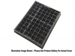 600 x 600 x 80mm EcoGrid Grass & Gravel Recessed Manhole Cover
