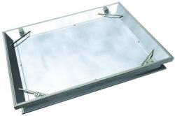 Stainless Steel 450 x 450 x 80mm Double Sealed & Locking Recessed Manhole Cover
